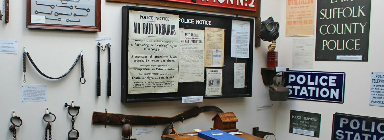 Evening visit to the Police Museum, Martlesham